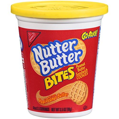 Bites Snack Pak - Nutter Butter Bites Peanut Butter Sandwich Cookies - Go-Pak, 3.5 Ounce