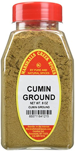 CUMIN GROUND FRESHLY PACKED IN LARGE JARS, comino, spices, herbs, seasonings, 8 ounce by Marshalls Creek Spices