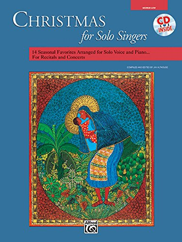 Christmas for Solo Singers: Medium Low Voice, Book & CD