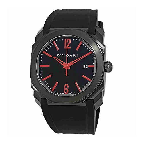 Bvlgari Octo Ultranero Black Dial Automatic Mens Watch 102738
