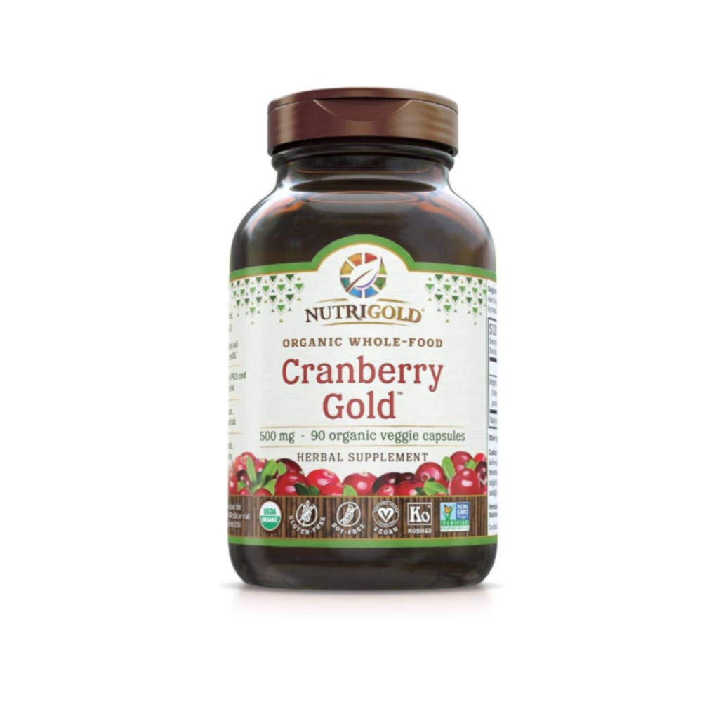 Cranberry Gold - Organic Whole Food Cranberry Concentrate (500mg, 90 veg caps)