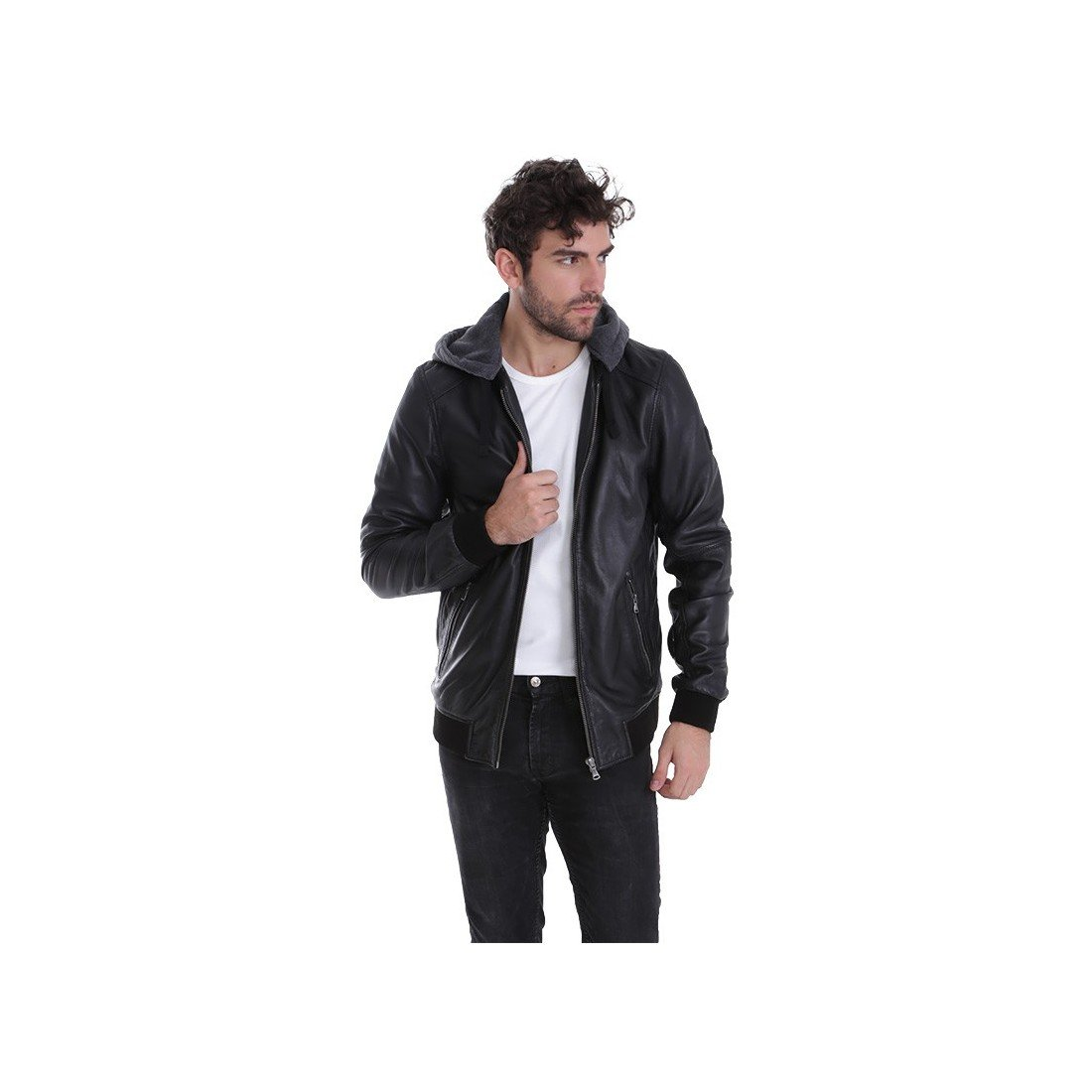 Oakwood jimmy veste en cuir noir