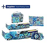 Packing Cubes,JOYPLUS 5 Set Compression Luggage Organizer Bag Multi-functional Travel Storage Pouch Travel Accessories Bags for Suitcase (Blue)