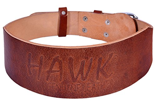 Hawk Leather Weightlifting Belt for Men & Women Pro Bodybuilding Back Support Crossfit Weight Lifting Training Powerlifting Gym Workout Belt