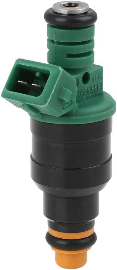 Sourcingmap 0280150558 Inyector de Combustible de Gasolina 12 V, 2 Pines, 4 Agujeros