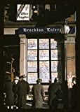 Vintography Reproduced Photo of Men and a Woman Reading Headlines Posted in Street-Corner Window of Brockton Enterprise Newspaper Office on Christmas Eve, Brockton, Mass. 1940 Delano C Jack 22a