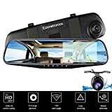 , Ezonetronics Car Camera | Car Video Recorder Full HD 1080P | Car Video Camera 4.3 Inch LCD with Dual Lens for Vehicles Front & Rearview Mirror | DVR Vehicles Dash Cam 2010