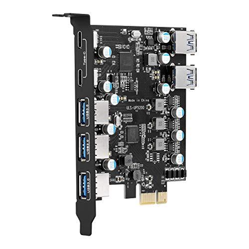 ULANSEN Tarjeta de expansión USB PCI-E a tipo C
