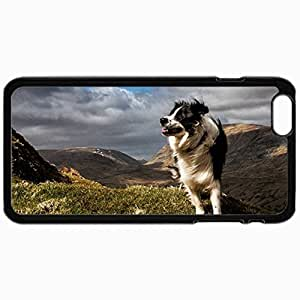 Customized Cellphone Case Back Cover For iPhone 6, Protective Hardshell Case Personalized Border Collie Black