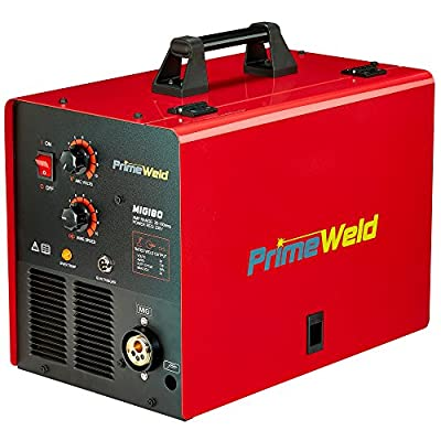 PRIMEWELD MIG180 180AMP Mig Welder with FREE Spool Gun, Mask, Aluminum Welding Wires, Solid wires, Argon Regulator, Standard MIG Gun 3 YEAR WARRANTY