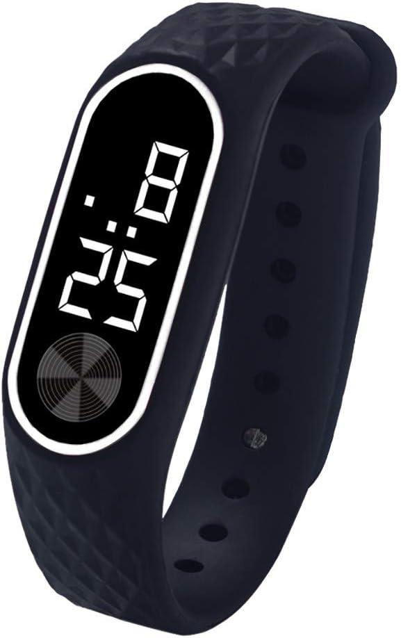 QinMM Relojes Deportivos Hombre Y Mujer, Reloj Digital LED Pulsera Actividad xiaomi de Gel de sílice Reloj Running Fitness Ejercicio