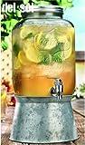 Home Essentials Del Sol 2 Gallon Drink Dispenser w/ Steel Base