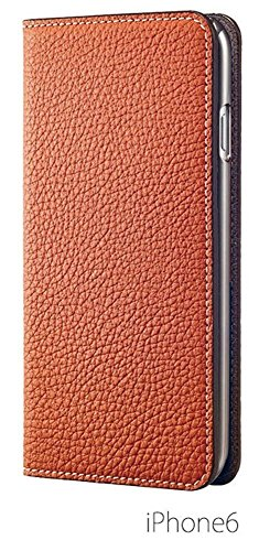 [BLACK FRIDAY 50%OFF] BONAVENTURA iPhone 6s / iPhone 6 Leather Flip Wallet Cover Case (Perlinger Full-Grain Leather) [iPhone 6 / 6s | ORANGE & TAUPE] by BONAVENTURA