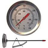 Thermomètre à friture–150mm en acier inoxydable tige avec clip de poêle Idéal pour Deep Fat Frire