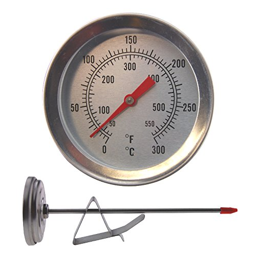 Deep Frying Thermometer - 150mm Stainless Steel Stem With Pan Clip Ideal For Deep Fat Frying Thermometer World