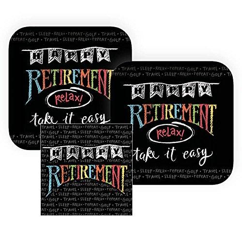 Happy Retirement Chalkboard Paper Dessert Plates and Napkins, 16 Servings, Bundle- 3 -
