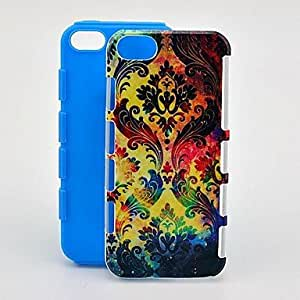 ZXSPACE Colorful Totems 2 in 1 Shockproof TPU and Hard Back Case for iPhone 5/5S