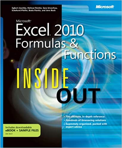 Microsoft Excel 2010 Formulas and Functions Inside Out: Egbert ...