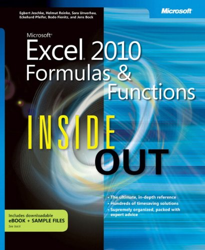 Microsoft Excel 2010 Formulas and Functions Inside Out by Microsoft