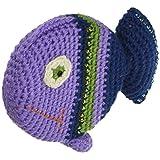 "Paradise Exotic Shawl Pin Crocheted Tape Measure 60"" -Fish"