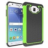 COMMUTER SERIES Case for Samsung Galaxy J7 Case iDoer Black Green