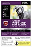 Nutri-Vet Wellness K9 Defense for Dogs Flea and Tick Repellents, X-Large/66 lb and Up