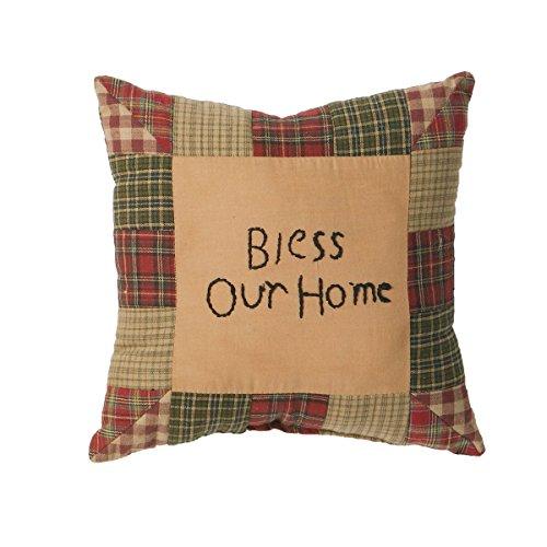 Tea Cabin Bless Our Home Pillow 10x10