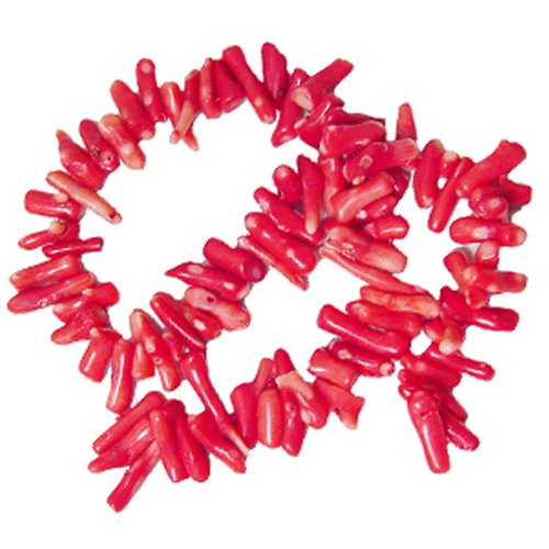 RED SEA BAMBOO CORAL 7X15MM CHIPS CUPOLINI BEADS AA+ C5