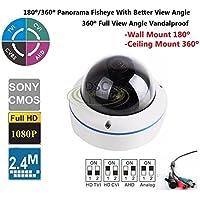 CCTV Fisheye Mini Dome Camera -180˚/360˚ Panorama View Angle/700TVL Vandalproof