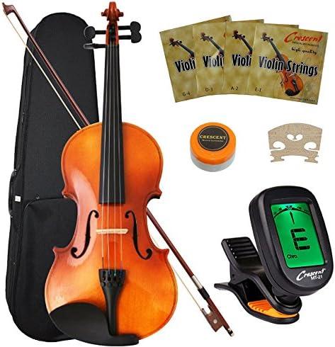 Crescent 4/4 Full-Size Student Violin Starter Kit