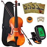 Crescent 4/4 Full Size Student Violin Starter Kit (Includes CrescentTM Digital E-Tuner)