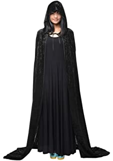 Halloween Cloak Hat Shining Dress-up Goth Witches Vampire Cape Cosplay Wizard