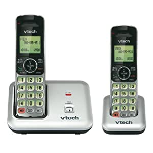 vtech cs6419 2 dect 6 0 expandable cordless phone with caller id call waiting. Black Bedroom Furniture Sets. Home Design Ideas
