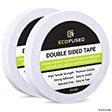 Premium Double Sided Adhesive Tape - Width: 0.4 inch (10 mm) - Length: 55 Yards (50 m) - for Arts and Crafts, DIY and Office - Quick and Easy to Use on Paper, Glass, Plastic, Wood, Metal and Fabric