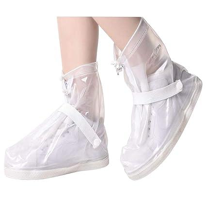 6937544db94c4 SZAT PRO Waterproof Shoe Covers Rain Galoshes Boots Cover Overshoes for Men  Women(Transparent M)