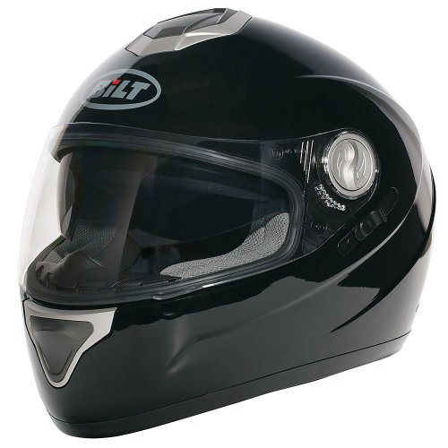 BILT Viper Full-Face Motorcycle Helmet - XS, Black
