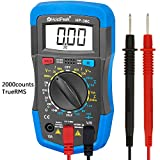 Manual-Ranging Digital Multimeter Multi Tester, HOLDPEAK 36C Volt Amp Ohm Capacitance Test Meter Multi Tester with Diode hFE Test, Blue