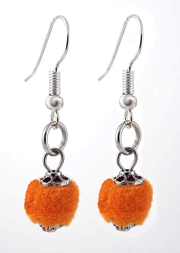 Tiny Baby Dangle Earrings Orange