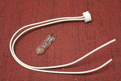 Microlites Scientific JY-31 Socket and lamp G4-GX5.3-G6.35 w.leads 19x19mm New