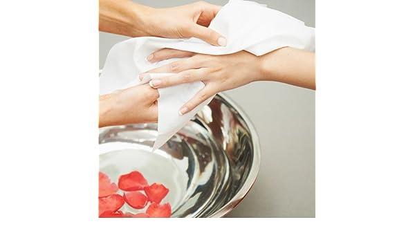 Toallas Desechables Manicura PlanetHair Store® Spunlace 20x35 cms. 100 unidades. Ideal para servicios de manicura, tratamientos faciales, ...