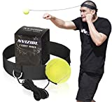 Nvizibl Fight Ball Reflex, Reflex Fight Ball with Headband for Boxing and MMA, Speed Training for Punching Reflex, Lose Weight and Improve Health, Kids Fight Ball