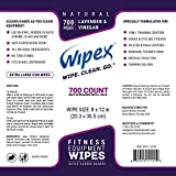 Wipex Gym & Fitness Wipes Refill Pack 700 Large