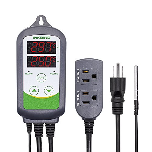 (Inkbird ITC-308 Max.1200W Heater, Cool Device Temperature Controller, Carboy, Homebrew, Fermenter, Greenhouse Terrarium Temp. Control)