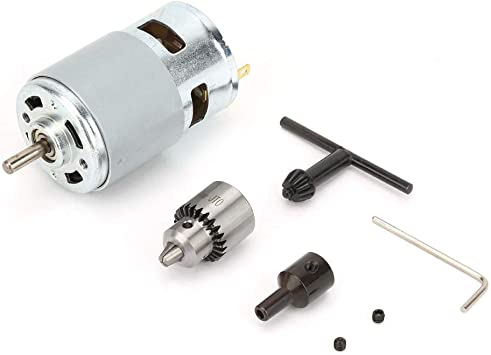 775 Motor DC 12-30V, 0.3-4MM Motor Eléctrico de Micromotor de Alta Potencia Corriente Motor Conductor con Cojinete de Bolas y Ventilador de Refrigeración para Bricolaje Partes: Amazon.es: Bricolaje y herramientas