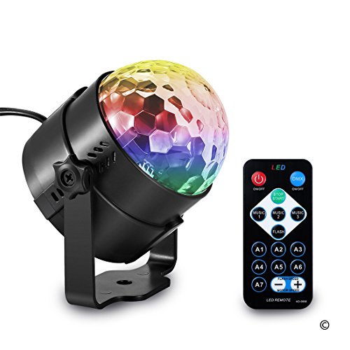 This party light goes to the Beat of the Music.