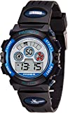 Highlights: *Cool design with black and blue watch bezel and soft rubber band *Soft protective back cover case, your skin or cloth will not be hurt at any case. Also feels more comfortable when wearing *Clear dial surface matches with easy to...