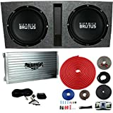 Hifonics BRZ15D4 Vented Bass Package - 2) 15'' Subwoofers, 2 Ch. Amp, Box & Wire