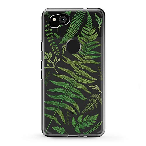Lex Altern Google Pixel Case XL 2 Green Fern 3 TPU Clear Leaf Flexible Tropical Phone Coverage Translucent Design Plants Girly Pattern Leaves Women 2016 Silicone Protective Lightweight Soft Botanical