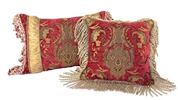 Sherry Kline China Art Red Luxury Pillows Set of 2