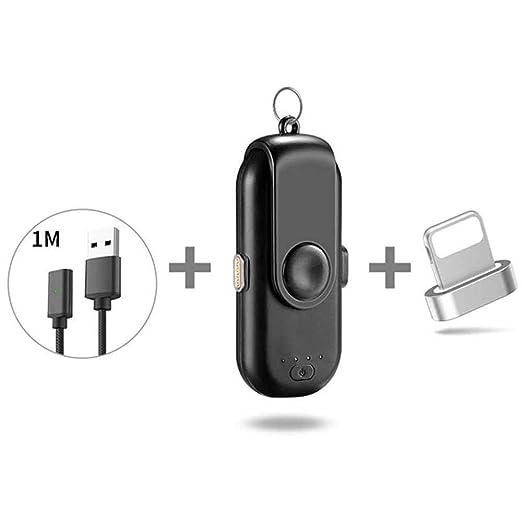 FOONEE Cargador magnético portátil con Cargador de Potencia, Cargador de batería Externo inalámbrico Compatible con iPhone/Android/Type-C teléfono ...
